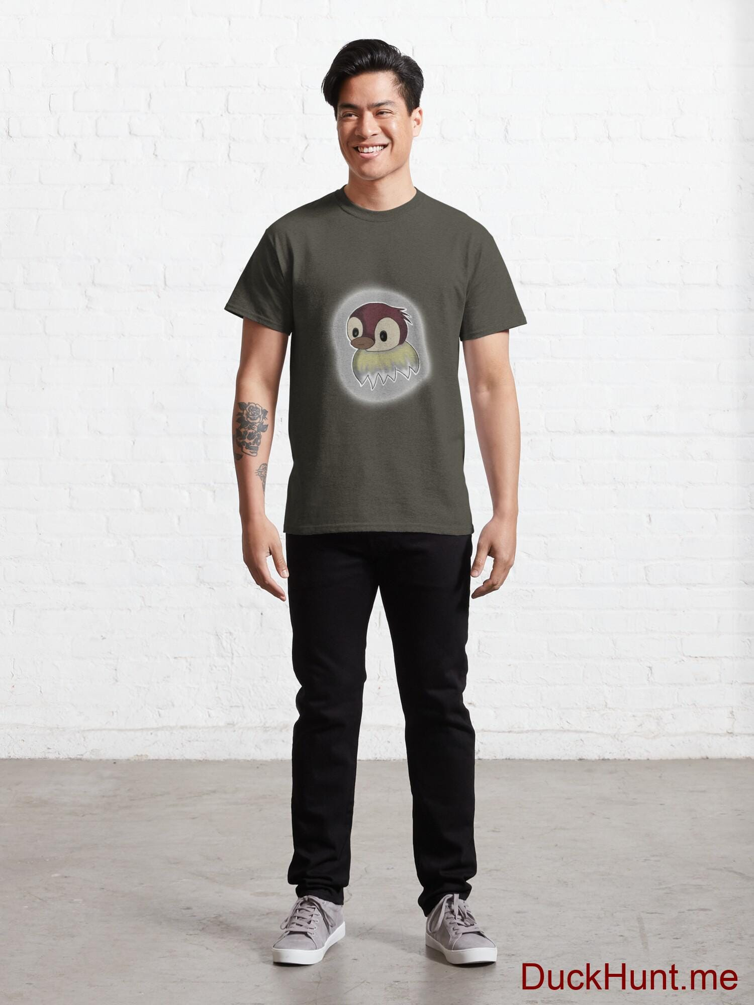Ghost Duck (foggy) Army Classic T-Shirt (Front printed) alternative image 6