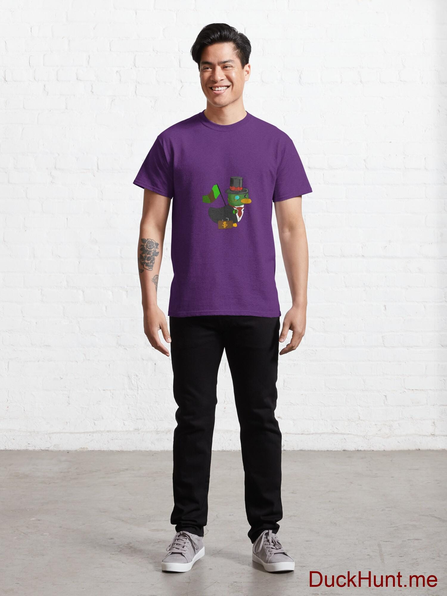Golden Duck Purple Classic T-Shirt (Front printed) alternative image 6