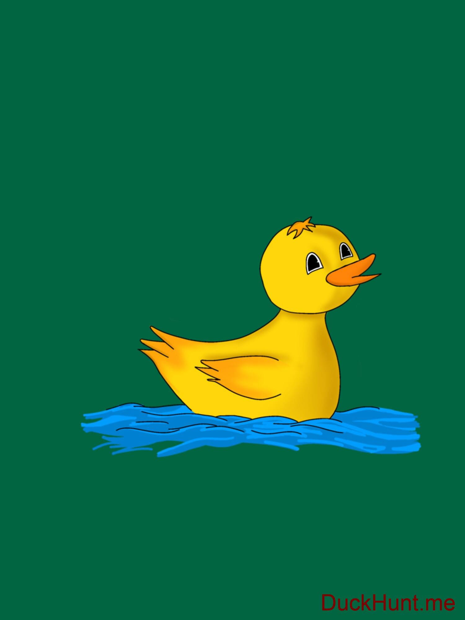 Plastic Duck Green Classic T-Shirt (Back printed) alternative image 2