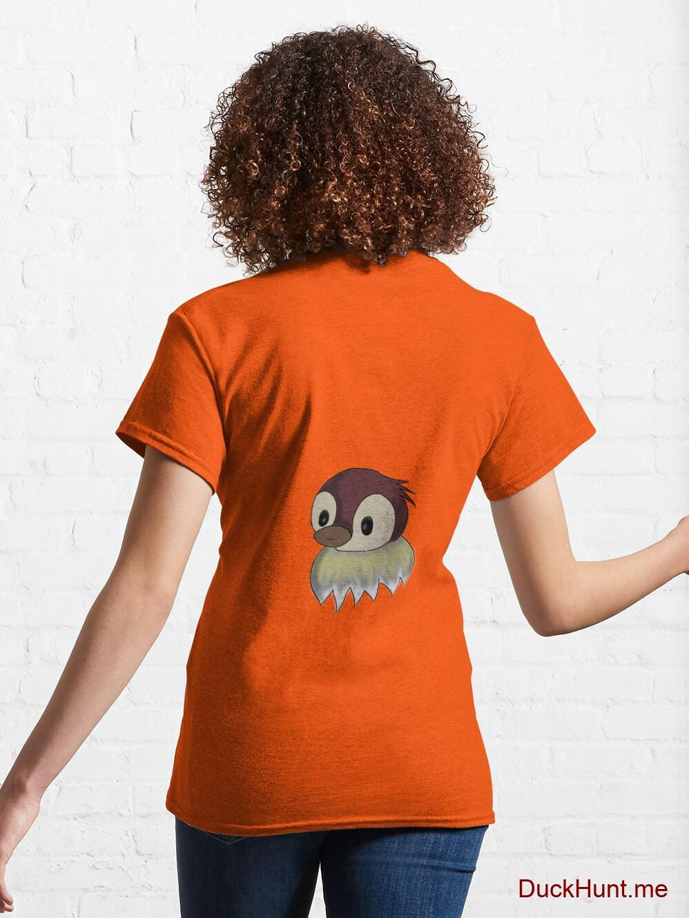 Ghost Duck (fogless) Orange Classic T-Shirt (Back printed) alternative image 4