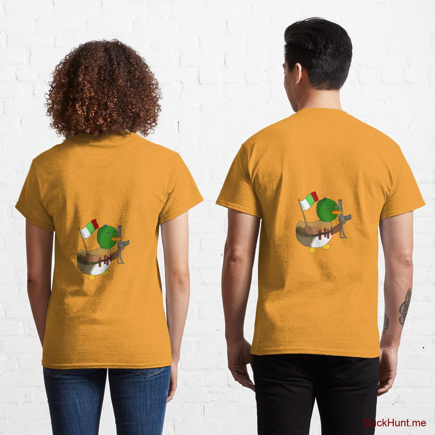 Kamikaze Duck Gold Classic T-Shirt (Back printed)