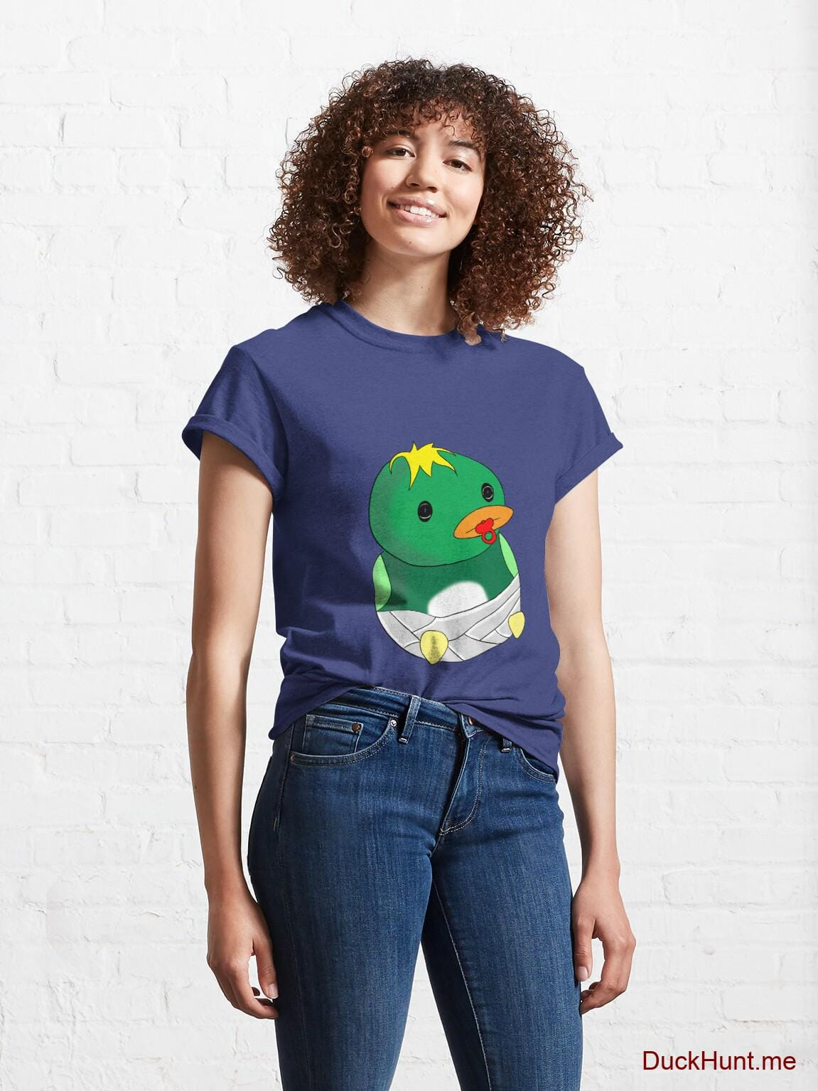 Baby duck Blue Classic T-Shirt (Front printed) alternative image 3