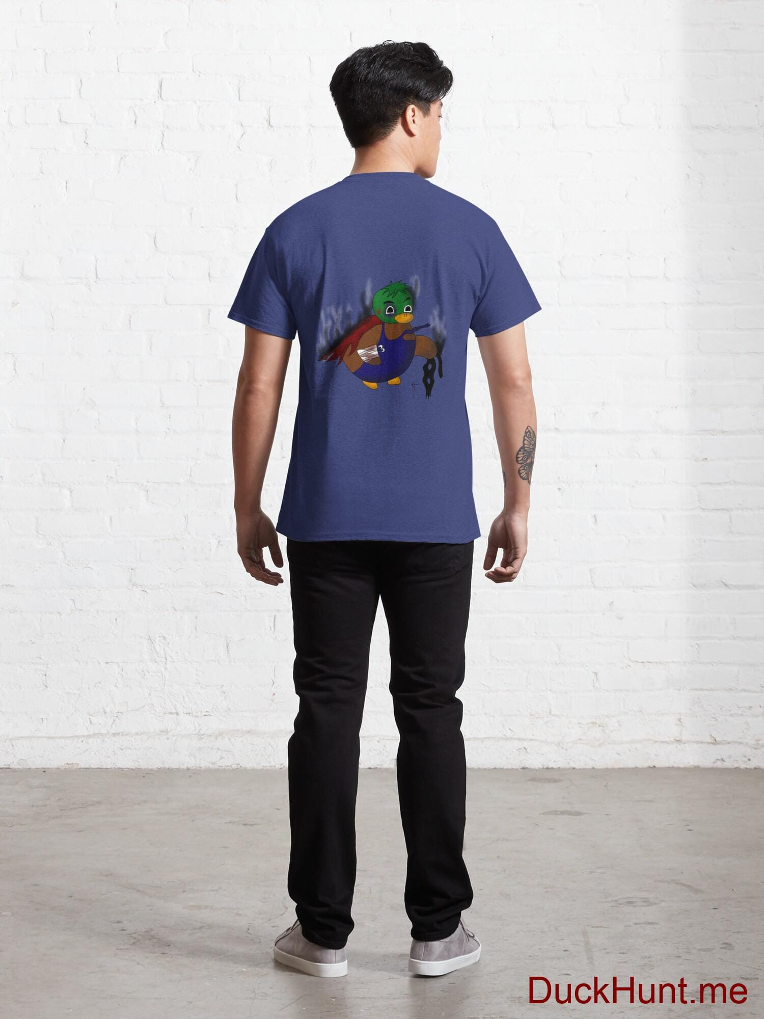 Dead Boss Duck (smoky) Blue Classic T-Shirt (Back printed) alternative image 3
