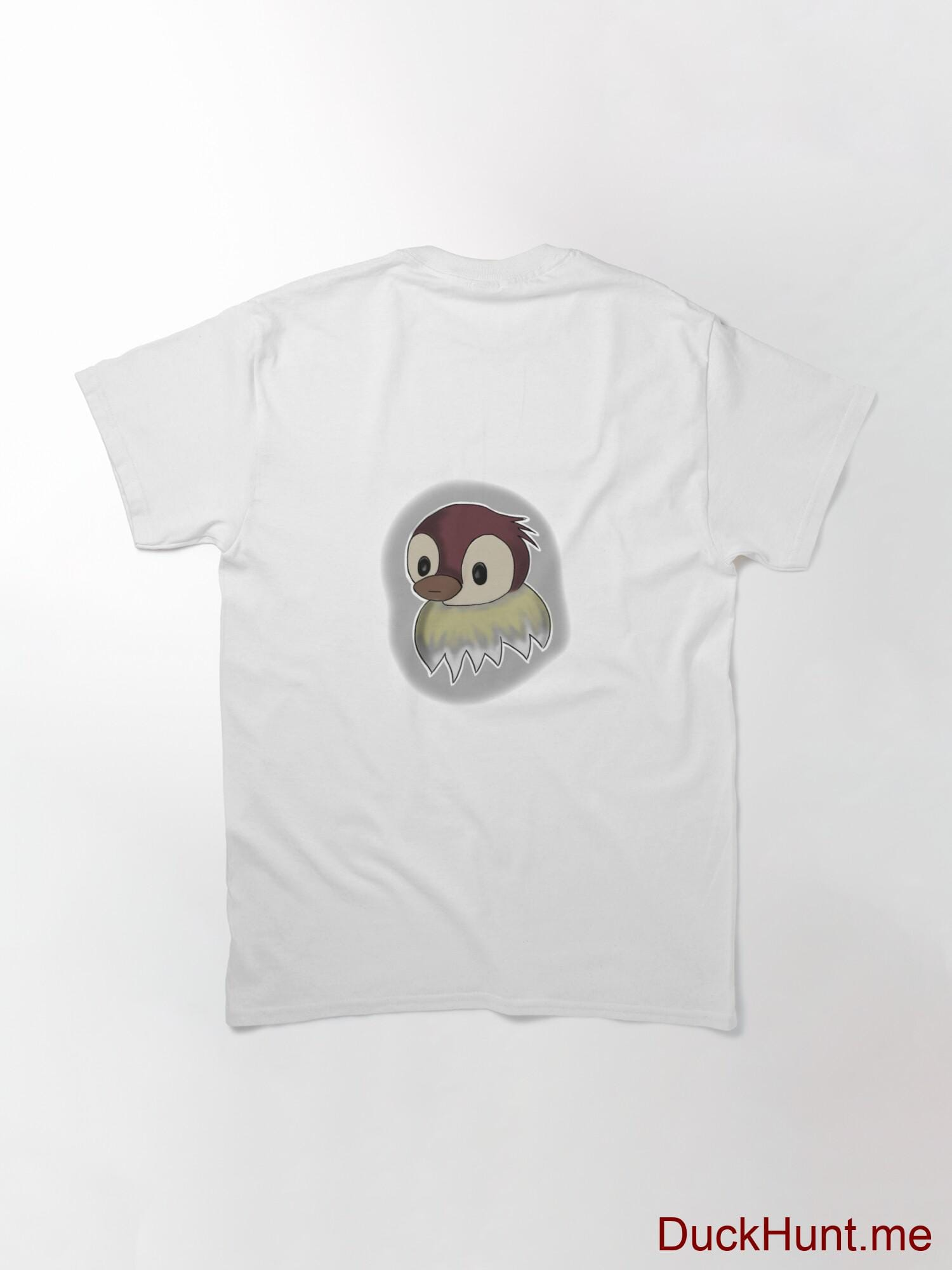Ghost Duck (foggy) White Classic T-Shirt (Back printed) alternative image 1