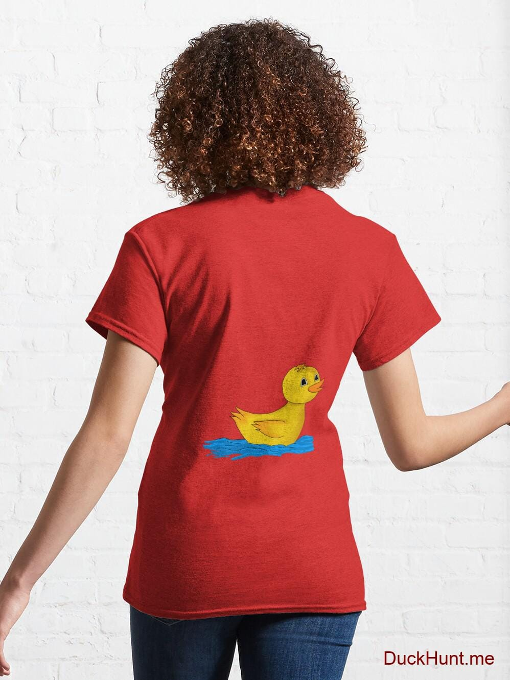 Plastic Duck Red Classic T-Shirt (Back printed) alternative image 4