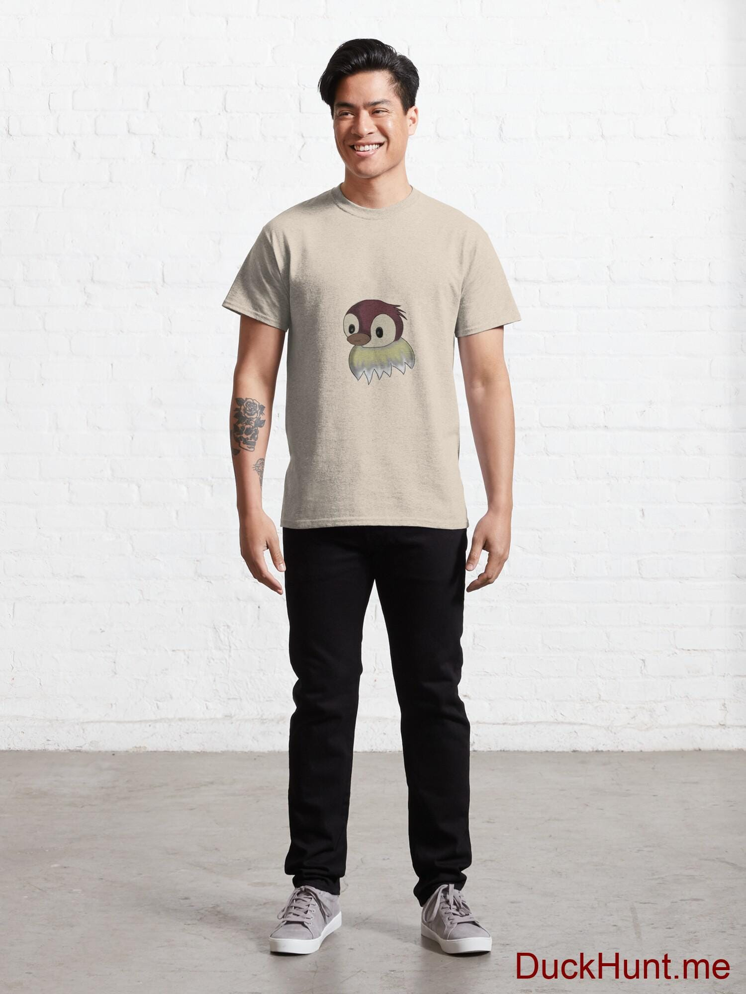 Ghost Duck (fogless) Creme Classic T-Shirt (Front printed) alternative image 6