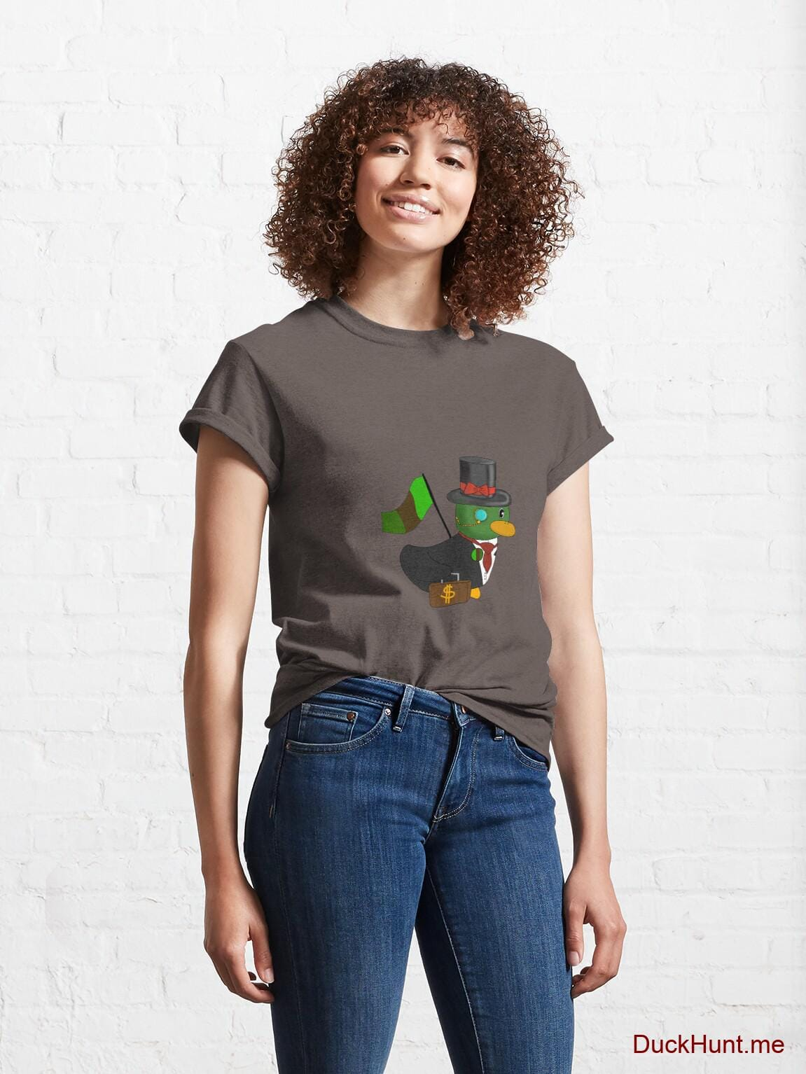 Golden Duck Dark Grey Classic T-Shirt (Front printed) alternative image 3