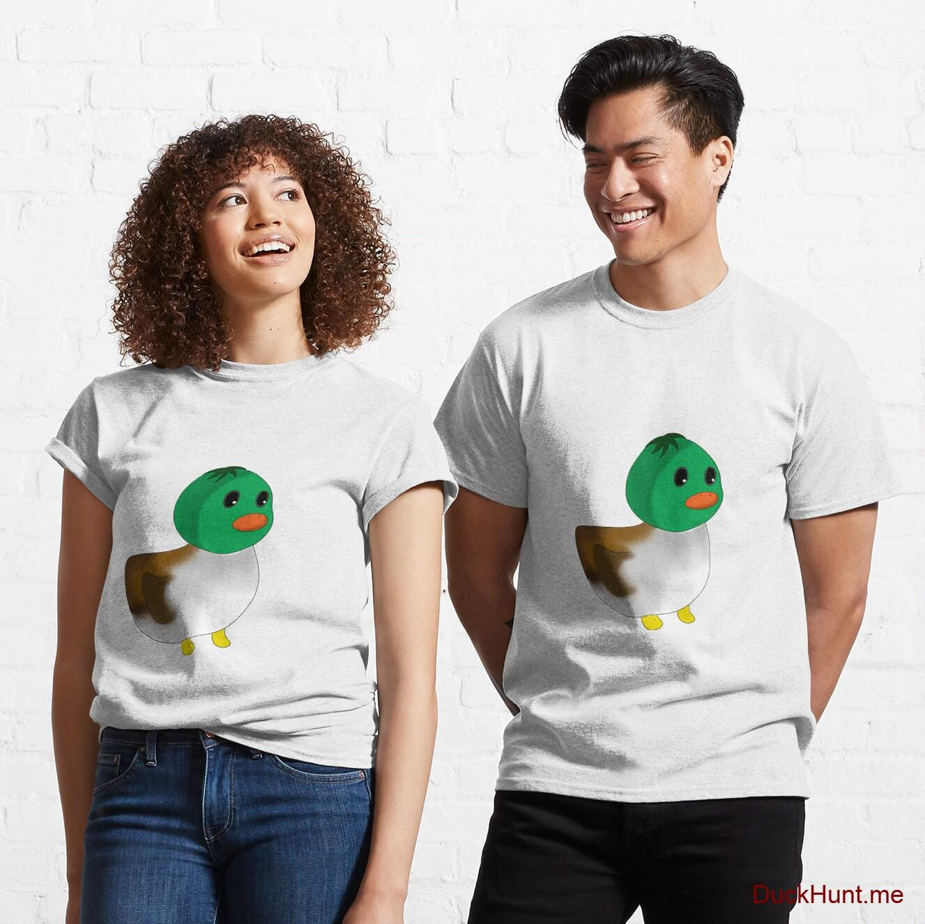 Normal Duck White Classic T-Shirt (Front printed)
