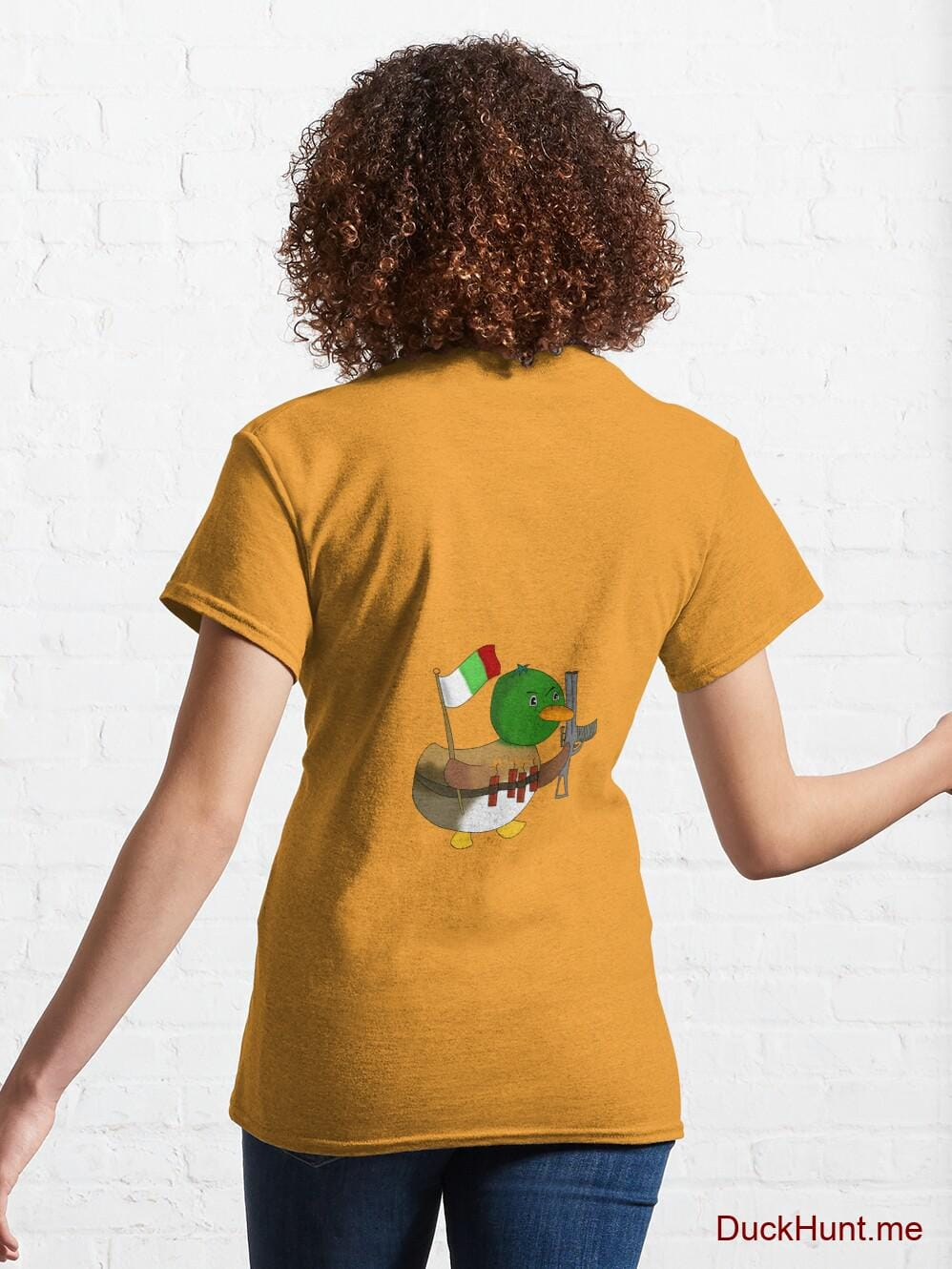 Kamikaze Duck Gold Classic T-Shirt (Back printed) alternative image 4