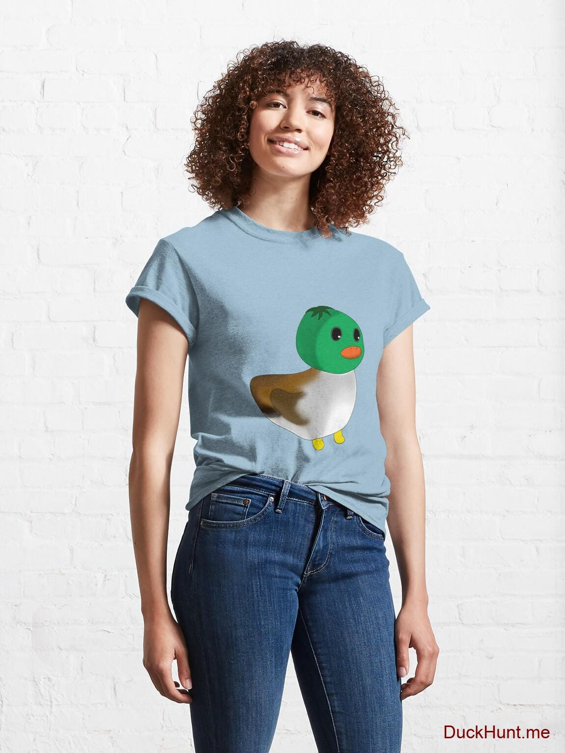Normal Duck Light Blue Classic T-Shirt (Front printed) alternative image 3