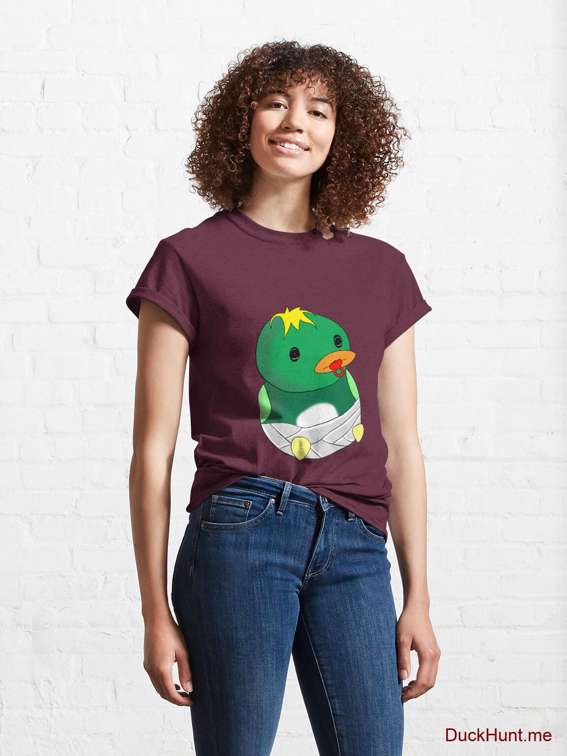 Baby duck Dark Red Classic T-Shirt (Front printed) alternative image 3