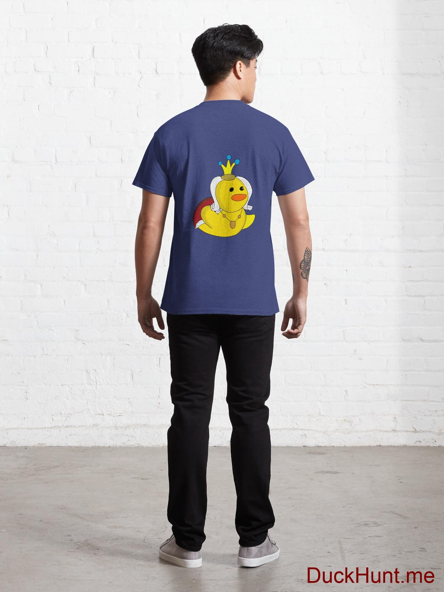 Royal Duck Blue Classic T-Shirt (Back printed) alternative image 3
