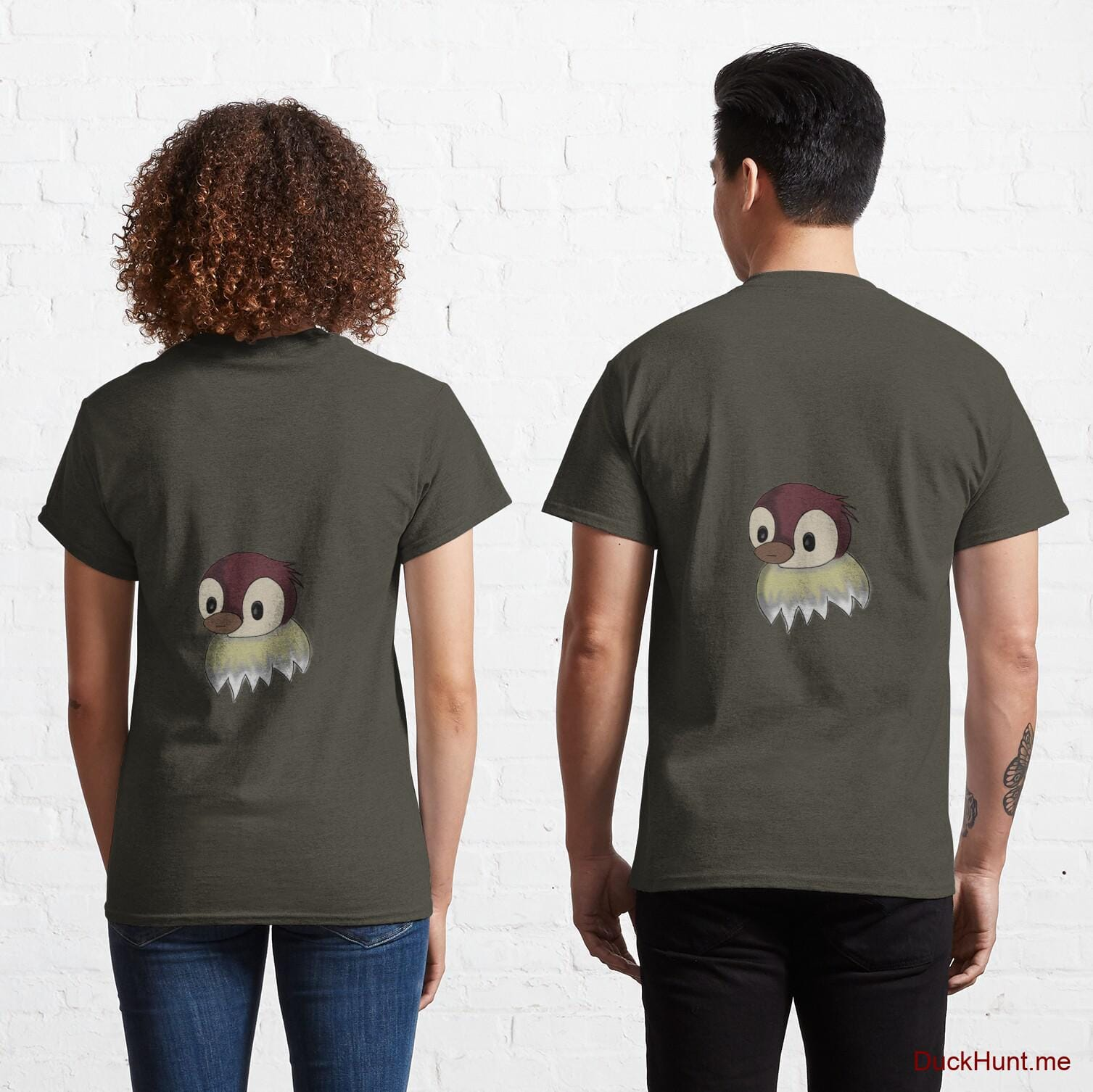 Ghost Duck (fogless) Army Classic T-Shirt (Back printed)