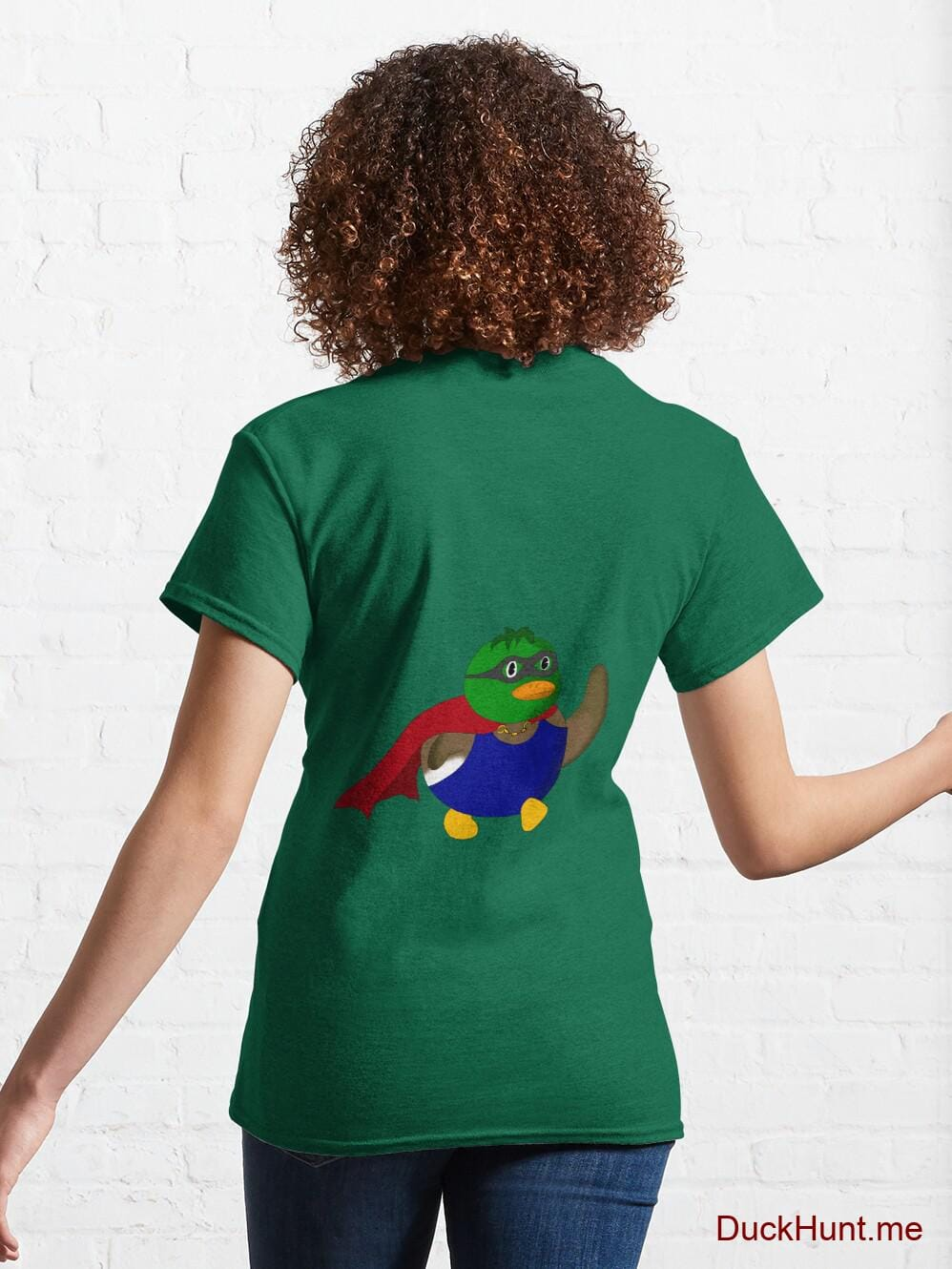 Alive Boss Duck Green Classic T-Shirt (Back printed) alternative image 4
