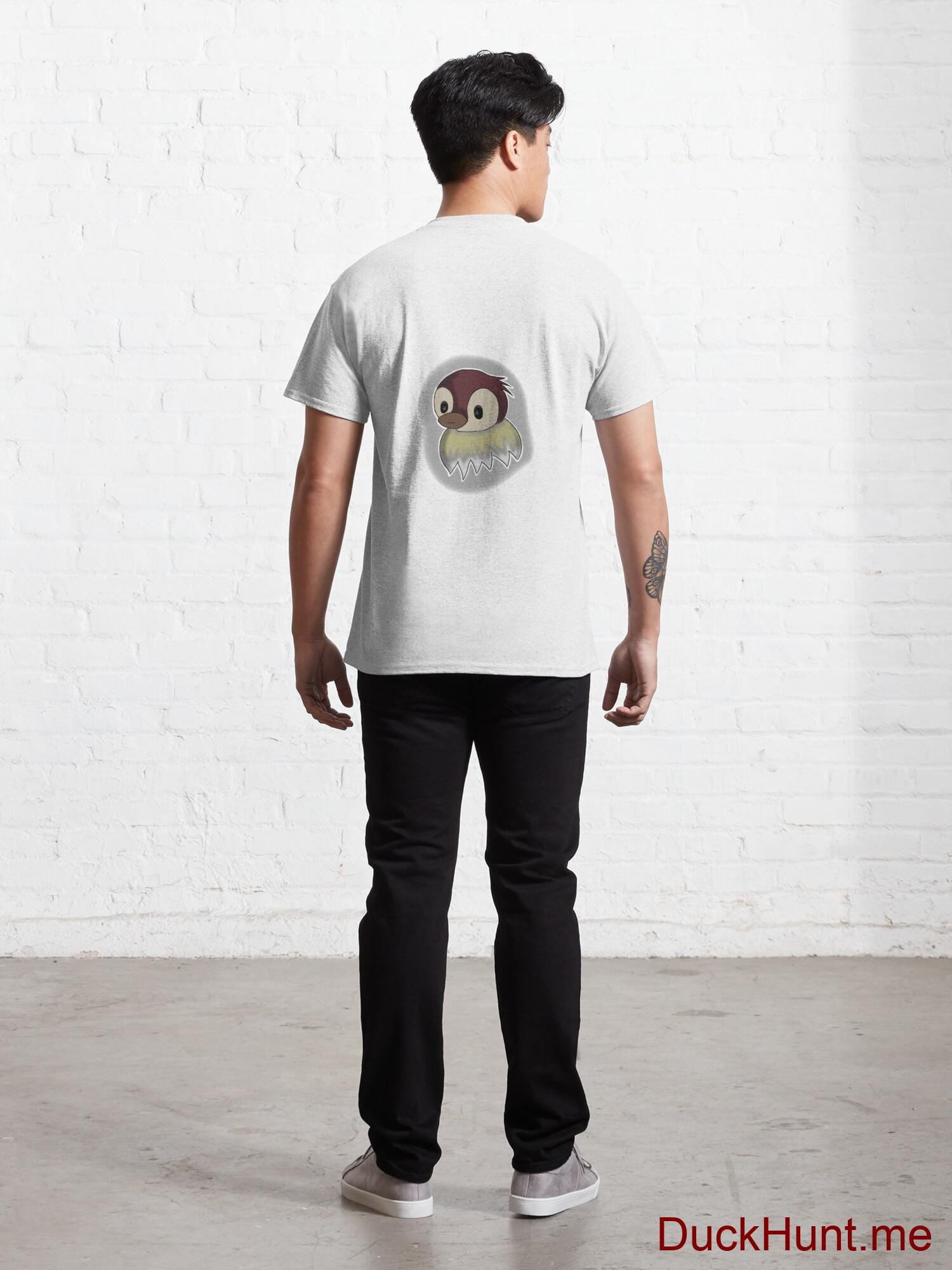 Ghost Duck (foggy) White Classic T-Shirt (Back printed) alternative image 3
