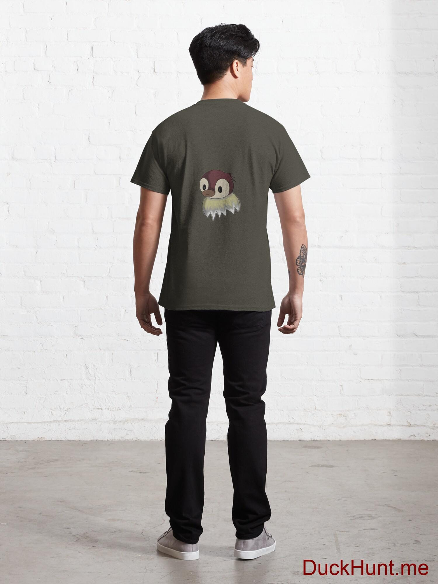 Ghost Duck (fogless) Army Classic T-Shirt (Back printed) alternative image 3