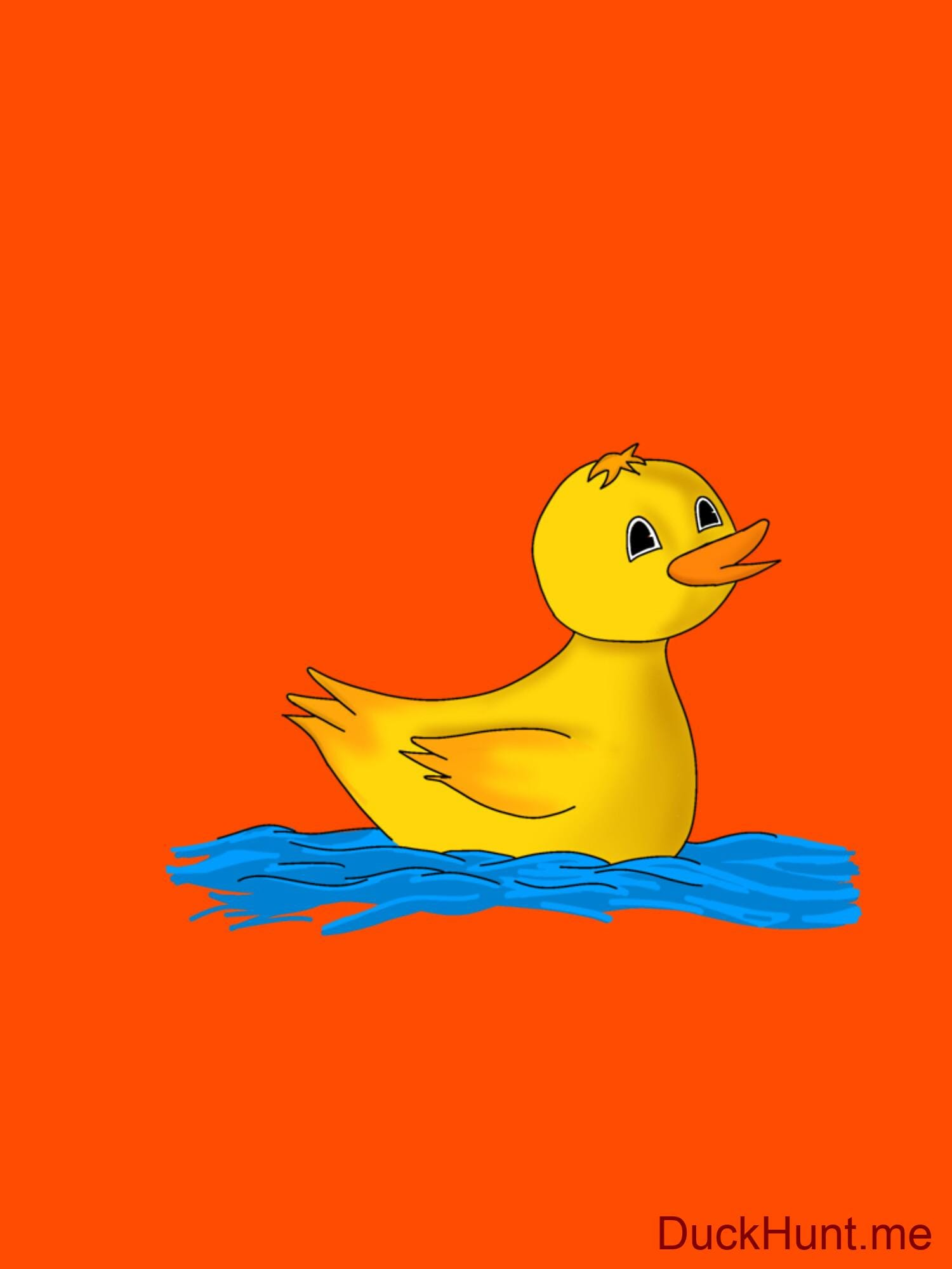 Plastic Duck Orange Classic T-Shirt (Back printed) alternative image 2