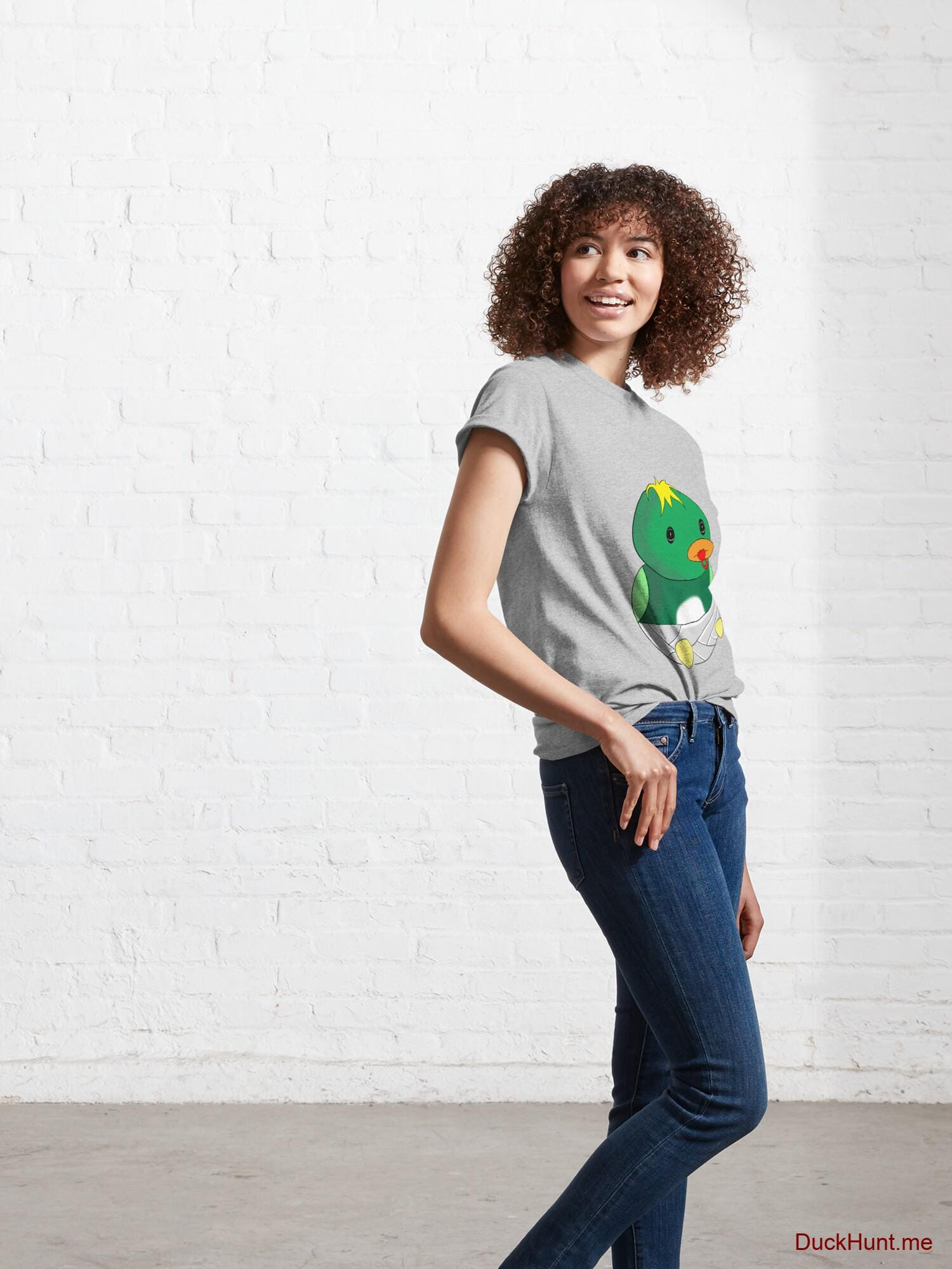 Baby duck Heather Grey Classic T-Shirt (Front printed) alternative image 5