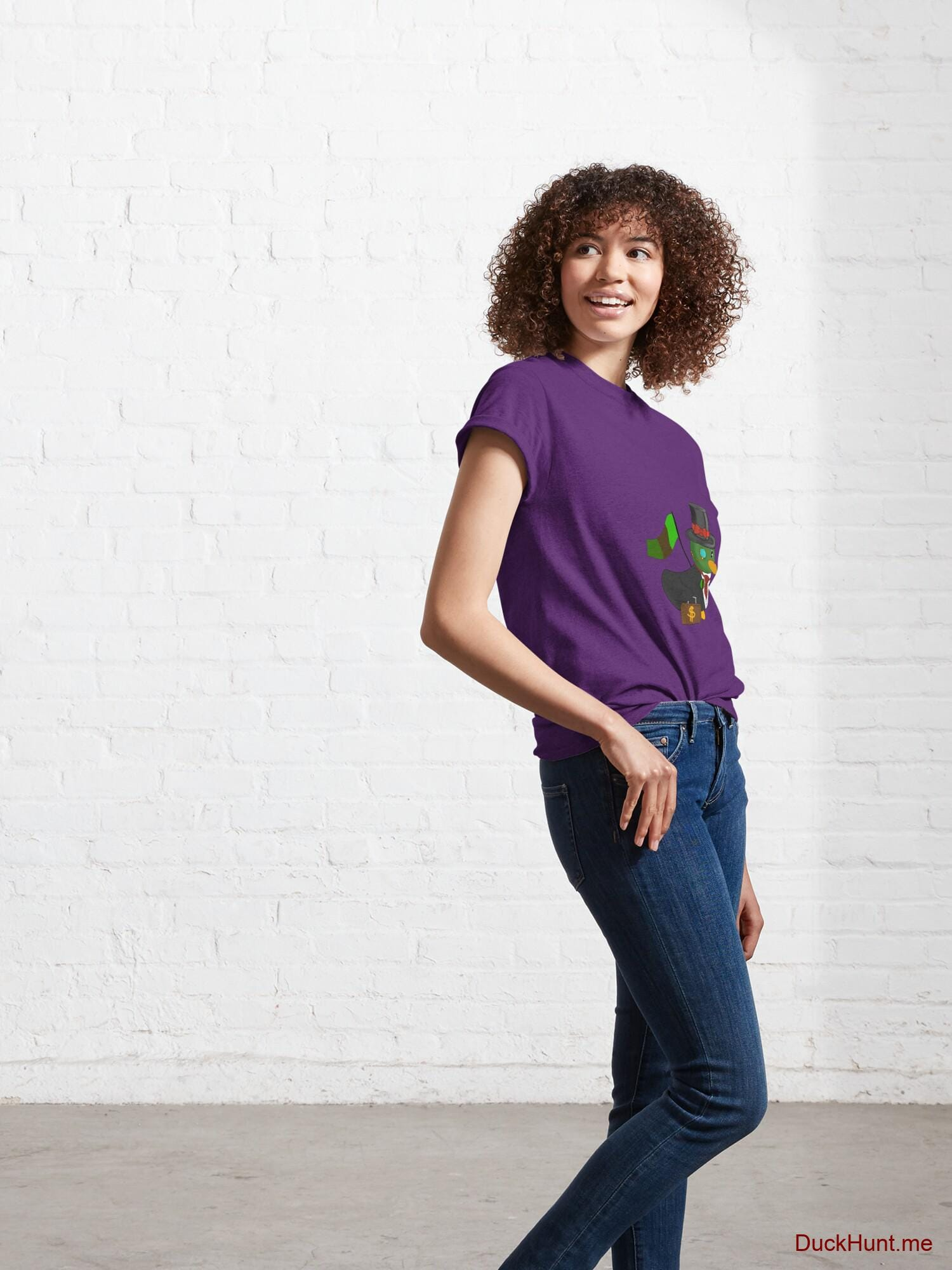 Golden Duck Purple Classic T-Shirt (Front printed) alternative image 5