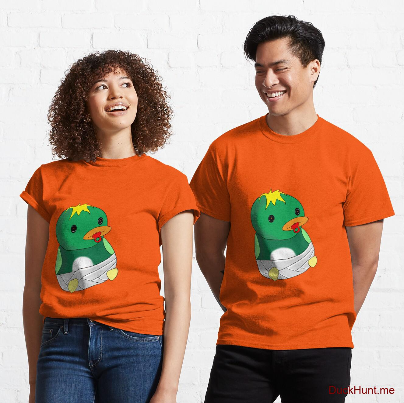 Baby duck Orange Classic T-Shirt (Front printed)