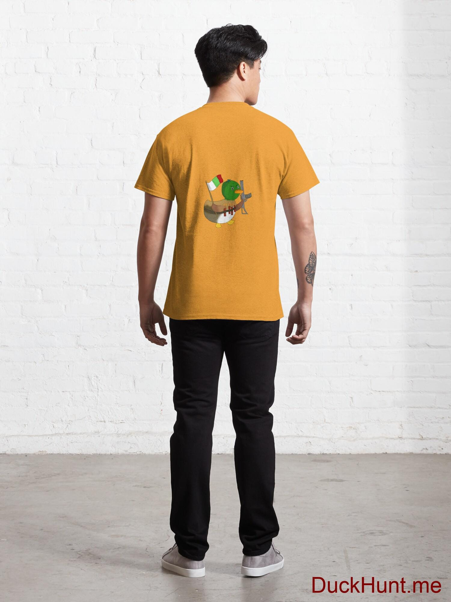 Kamikaze Duck Gold Classic T-Shirt (Back printed) alternative image 3