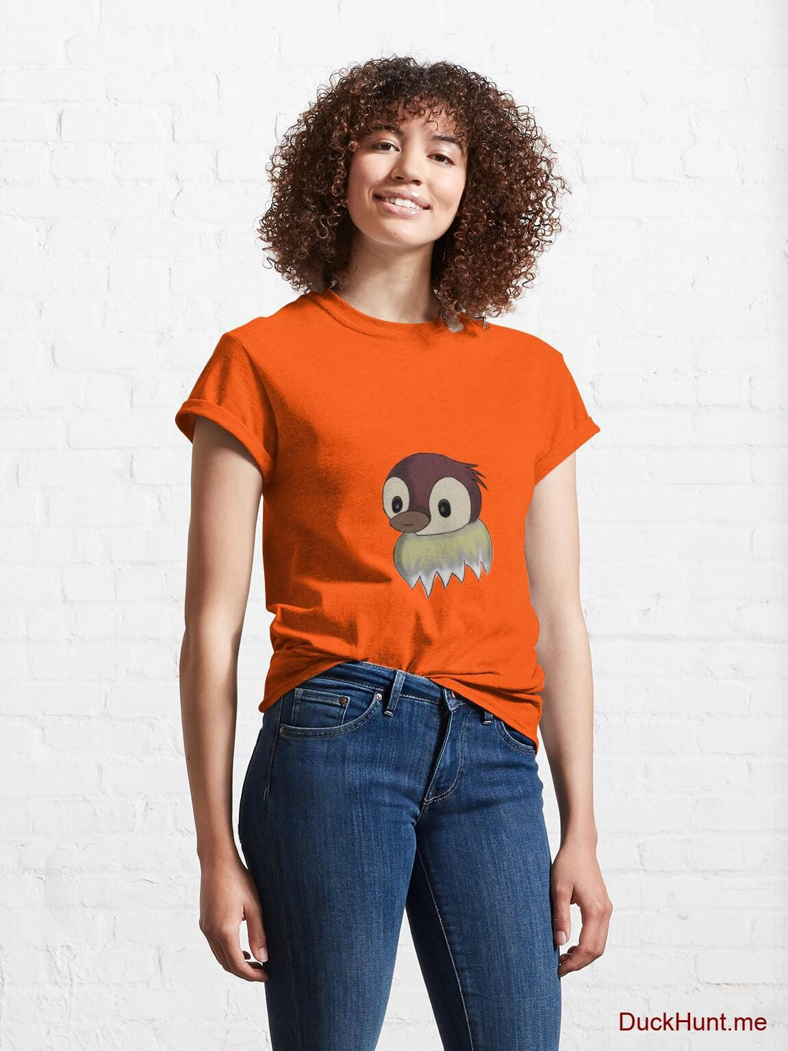 Ghost Duck (fogless) Orange Classic T-Shirt (Front printed) alternative image 3