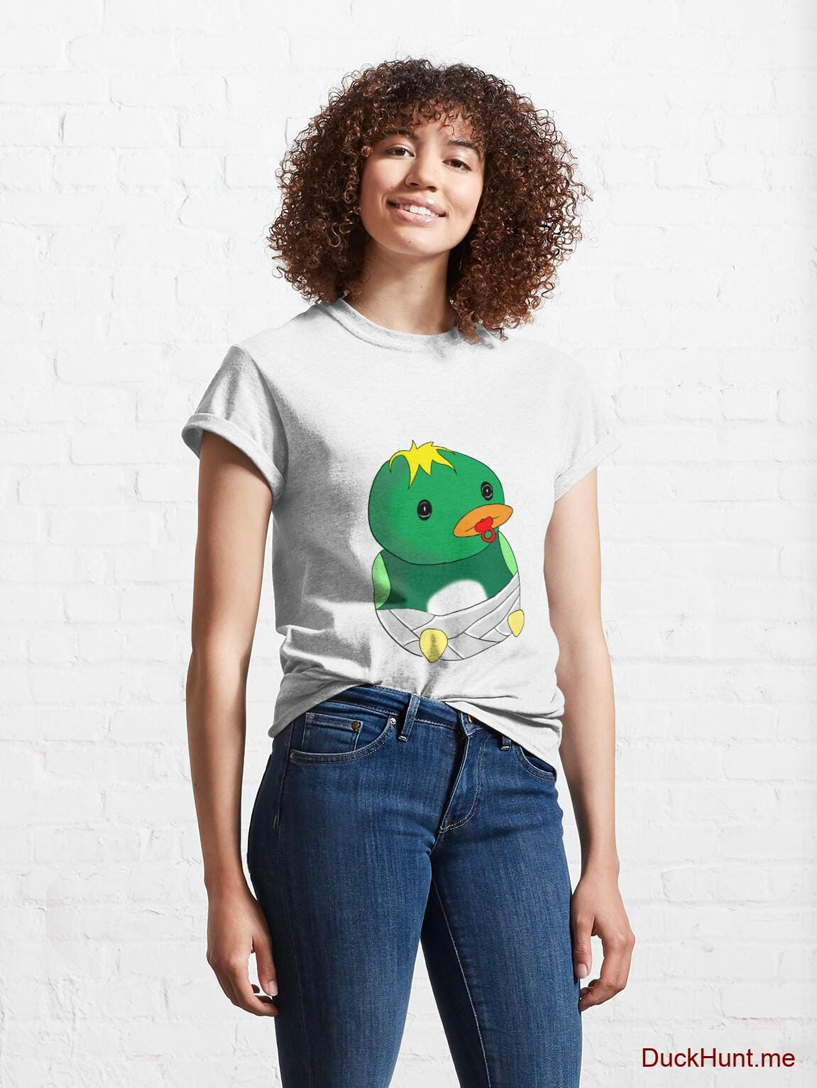 Baby duck White Classic T-Shirt (Front printed) alternative image 3