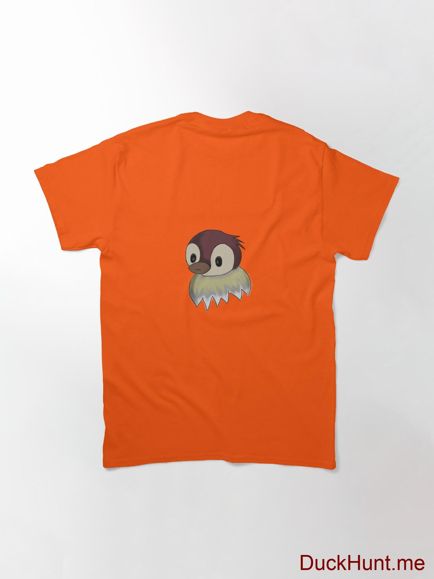 Ghost Duck (fogless) Orange Classic T-Shirt (Back printed) alternative image 1