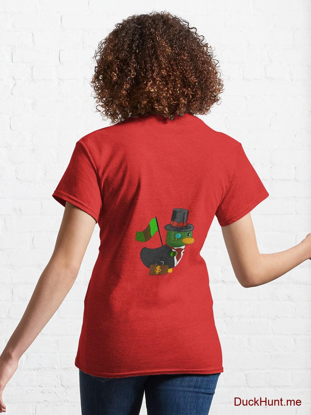 Golden Duck Red Classic T-Shirt (Back printed) alternative image 4