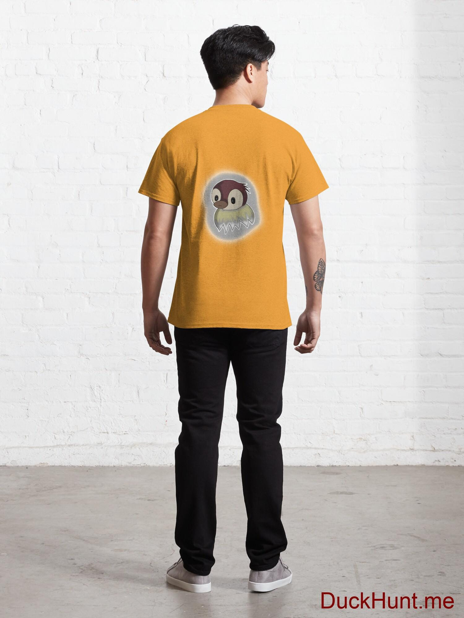 Ghost Duck (foggy) Gold Classic T-Shirt (Back printed) alternative image 3