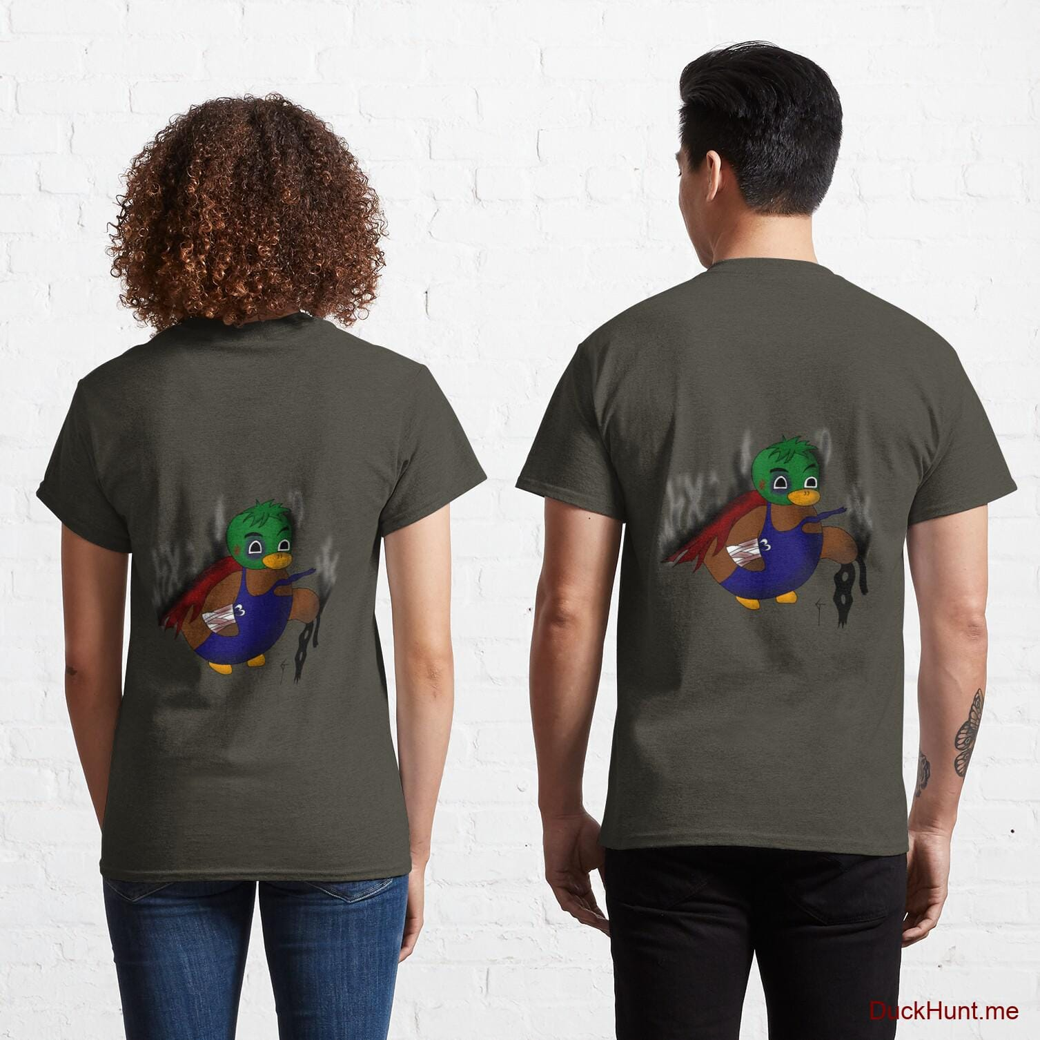 Dead Boss Duck (smoky) Army Classic T-Shirt (Back printed)