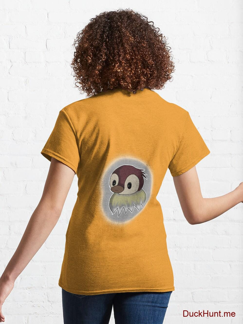 Ghost Duck (foggy) Gold Classic T-Shirt (Back printed) alternative image 4