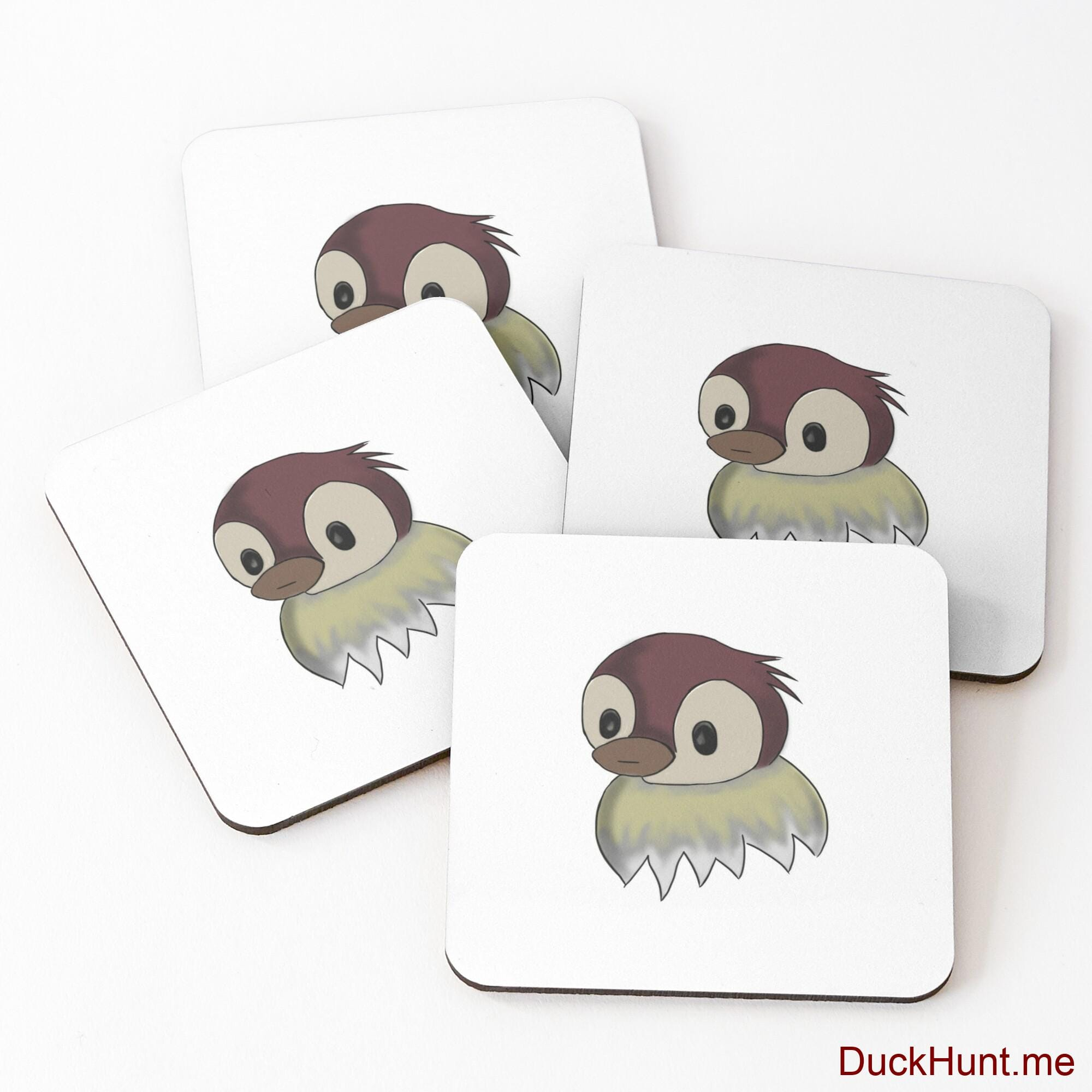 Ghost Duck (fogless) Coasters (Set of 4)