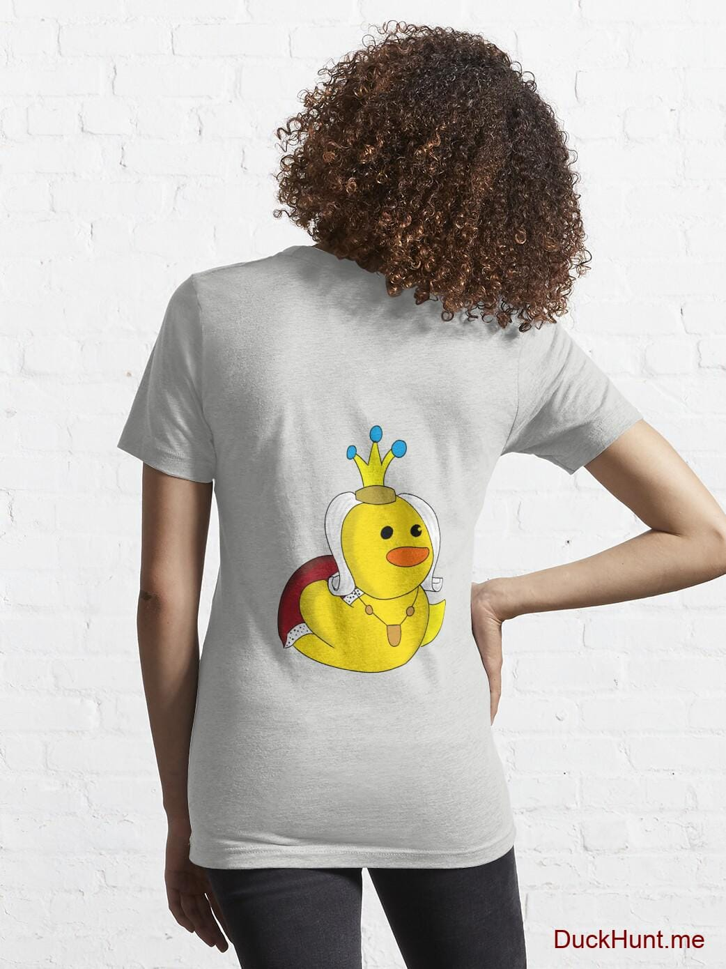 Royal Duck Light Grey Essential T-Shirt (Back printed) alternative image 4