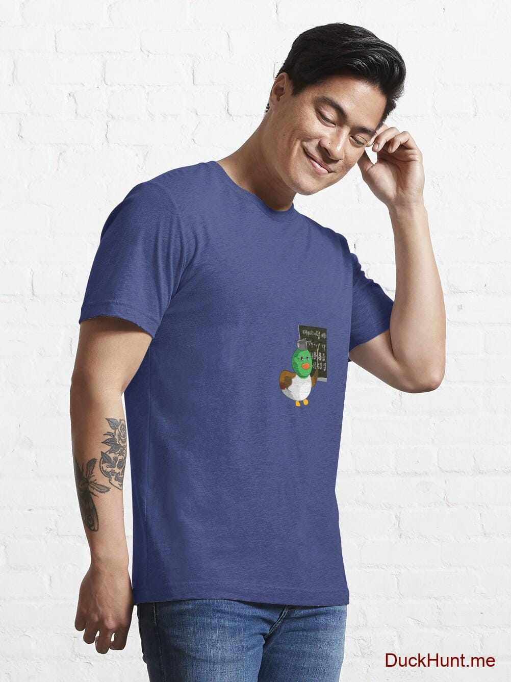 Prof Duck Blue Essential T-Shirt (Front printed) alternative image 6