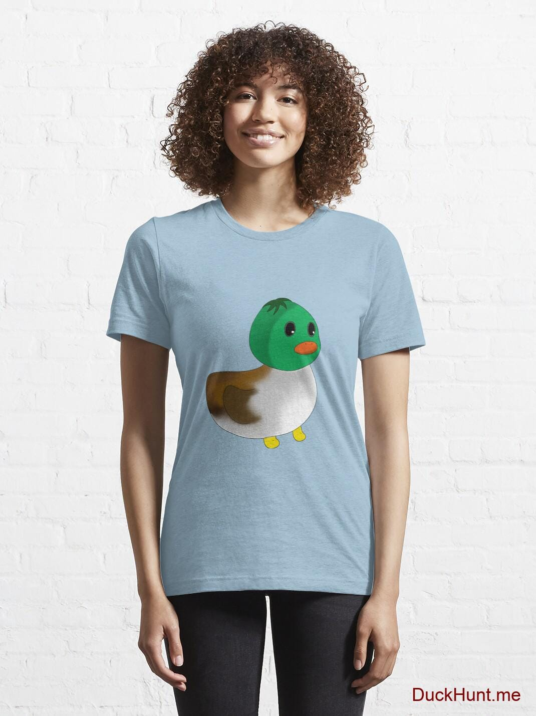 Normal Duck Light Blue Essential T-Shirt (Front printed) alternative image 5