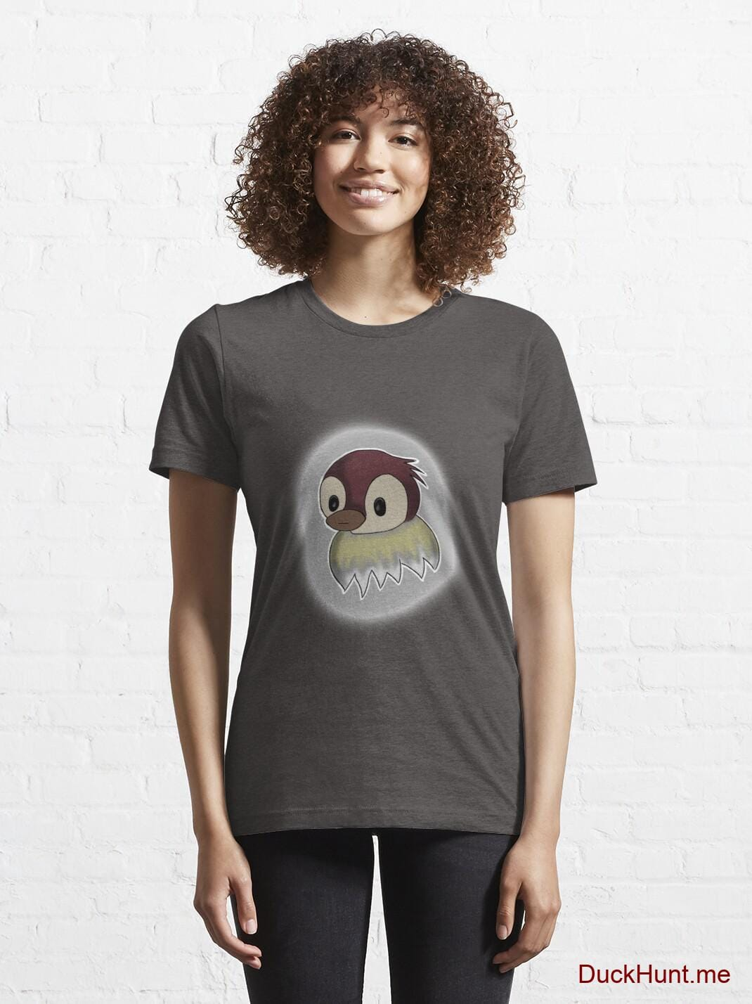 Ghost Duck (foggy) Charcoal Heather Essential T-Shirt (Front printed) alternative image 5