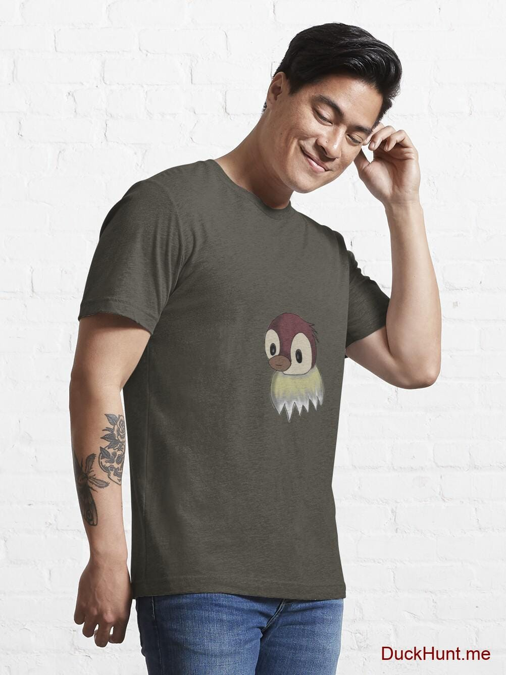 Ghost Duck (fogless) Army Essential T-Shirt (Front printed) alternative image 6