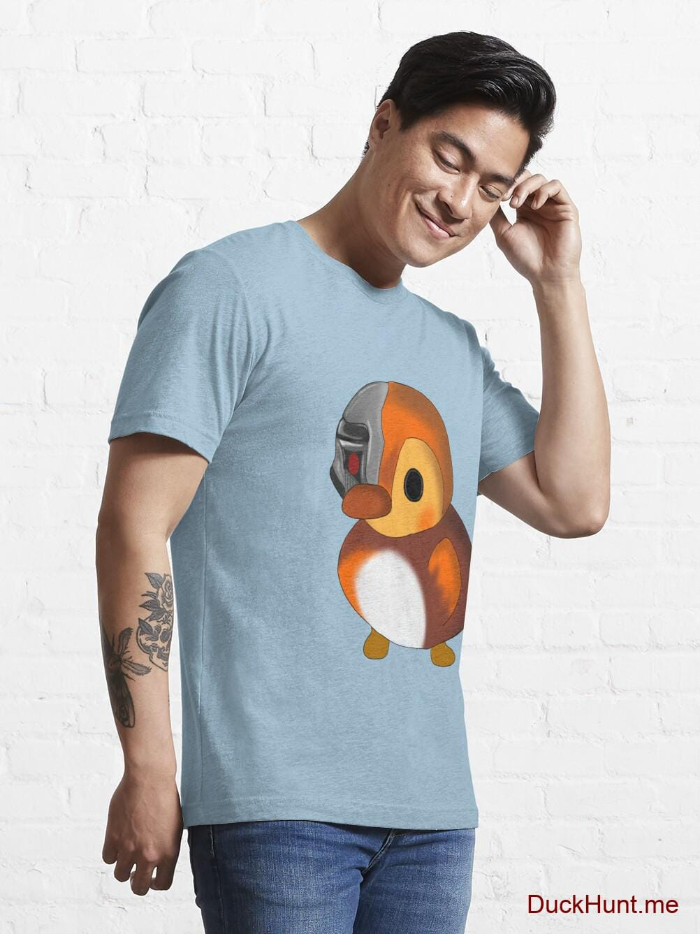 Mechanical Duck Light Blue Essential T-Shirt (Front printed) alternative image 6