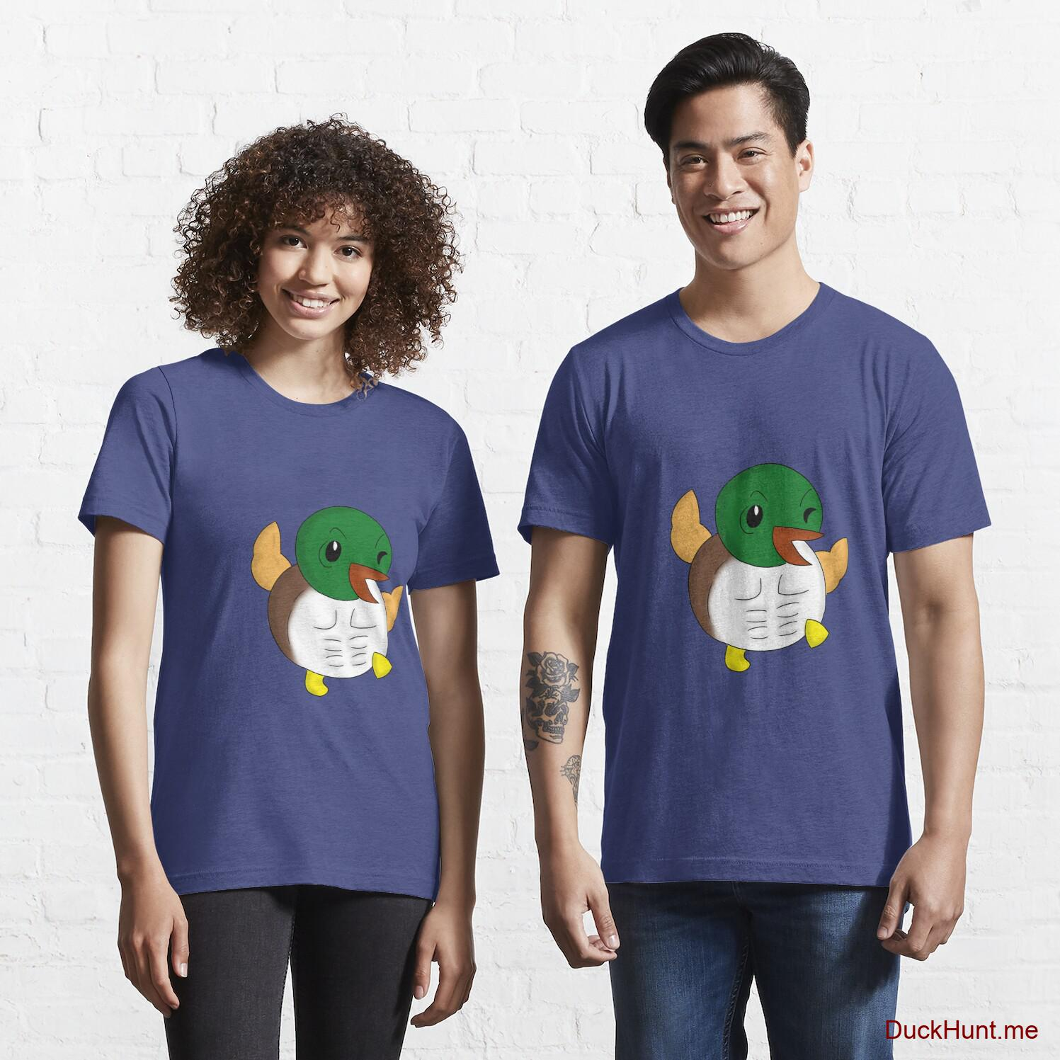 Super duck Blue Essential T-Shirt (Front printed)