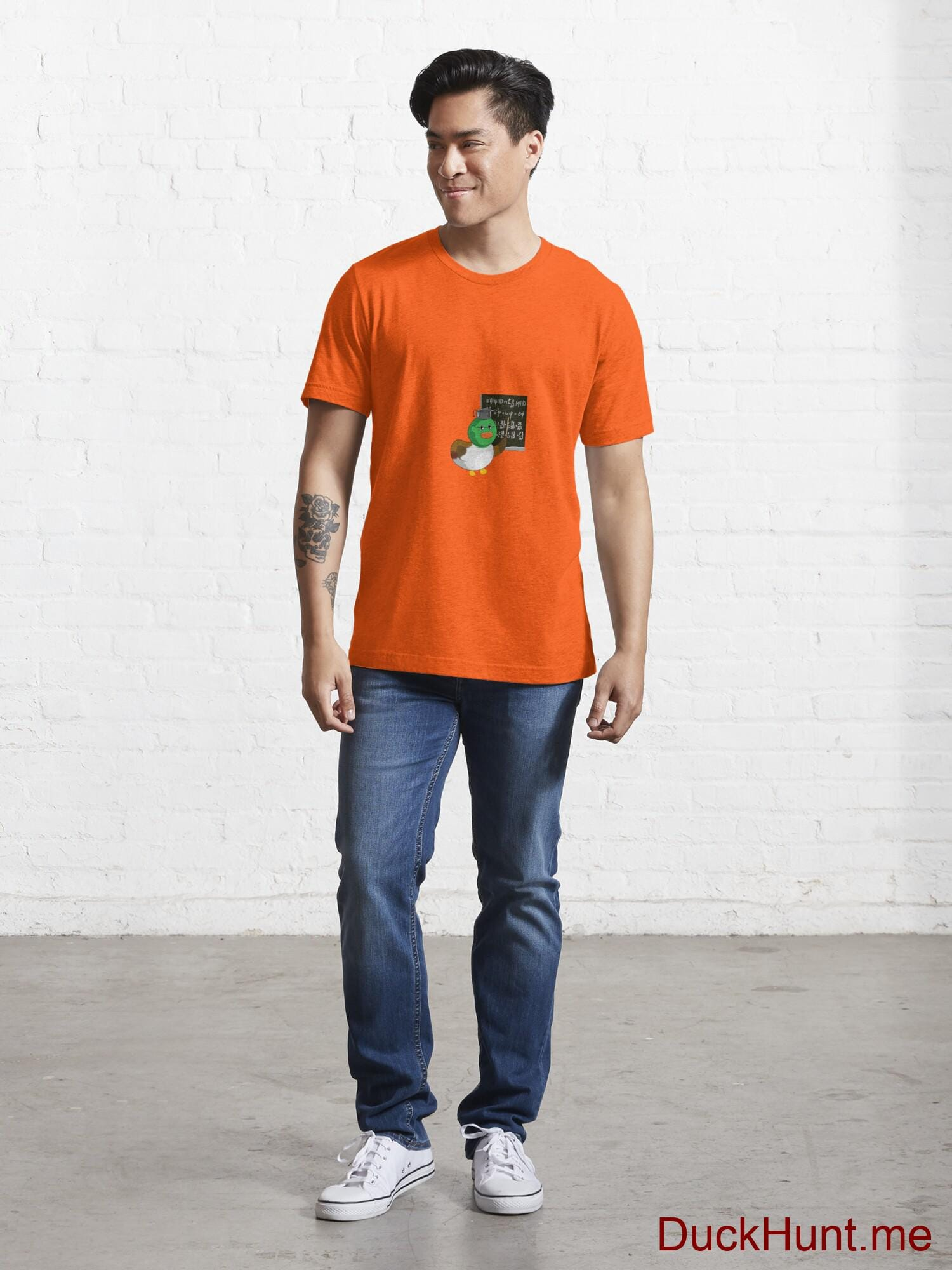 Prof Duck Orange Essential T-Shirt (Front printed) alternative image 4