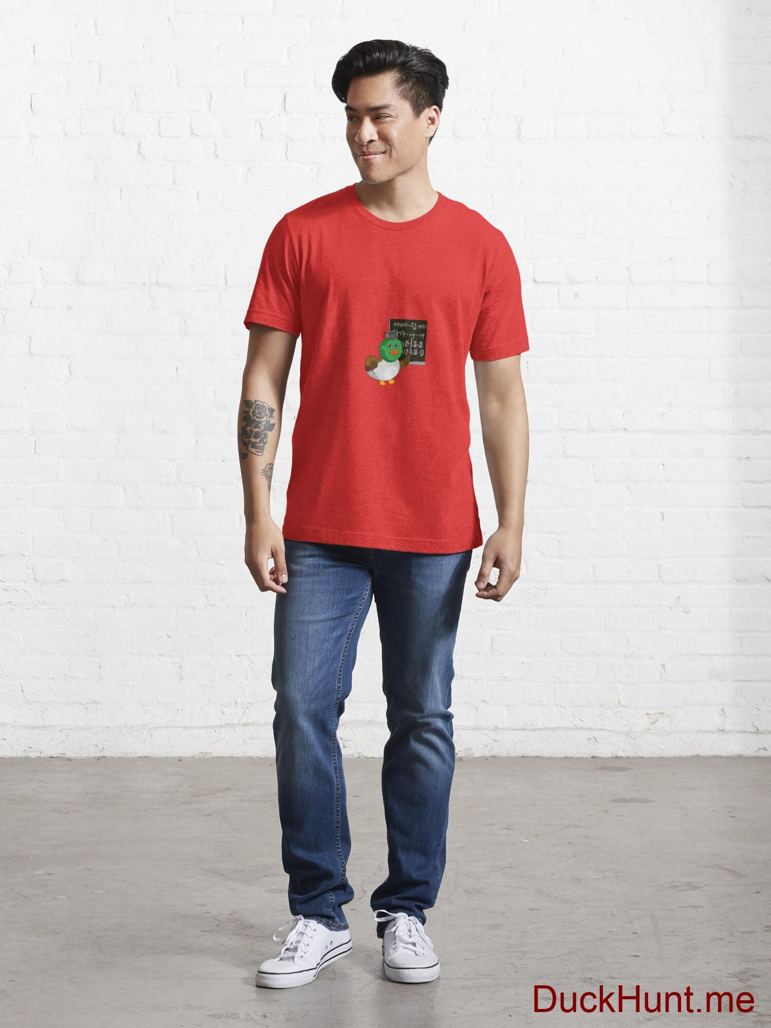 Prof Duck Red Essential T-Shirt (Front printed) alternative image 4