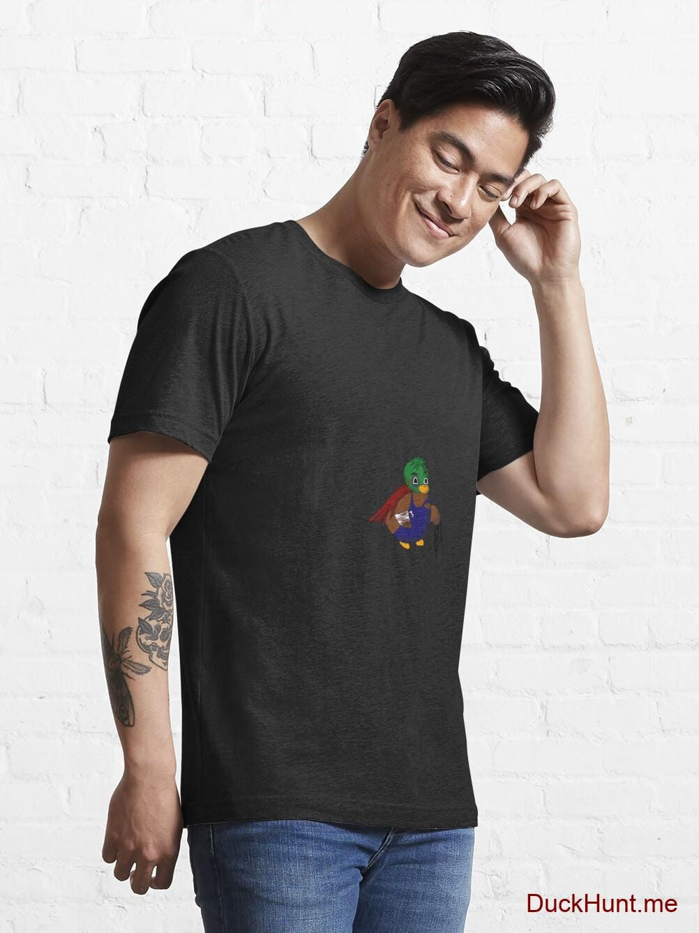 Dead DuckHunt Boss (smokeless) Black Essential T-Shirt (Front printed) alternative image 6