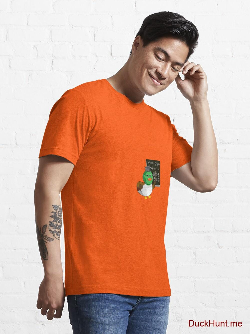 Prof Duck Orange Essential T-Shirt (Front printed) alternative image 6