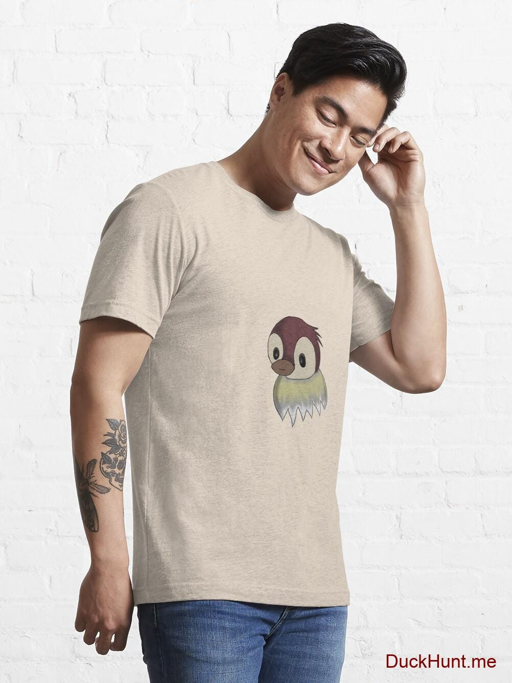 Ghost Duck (fogless) Creme Essential T-Shirt (Front printed) alternative image 6