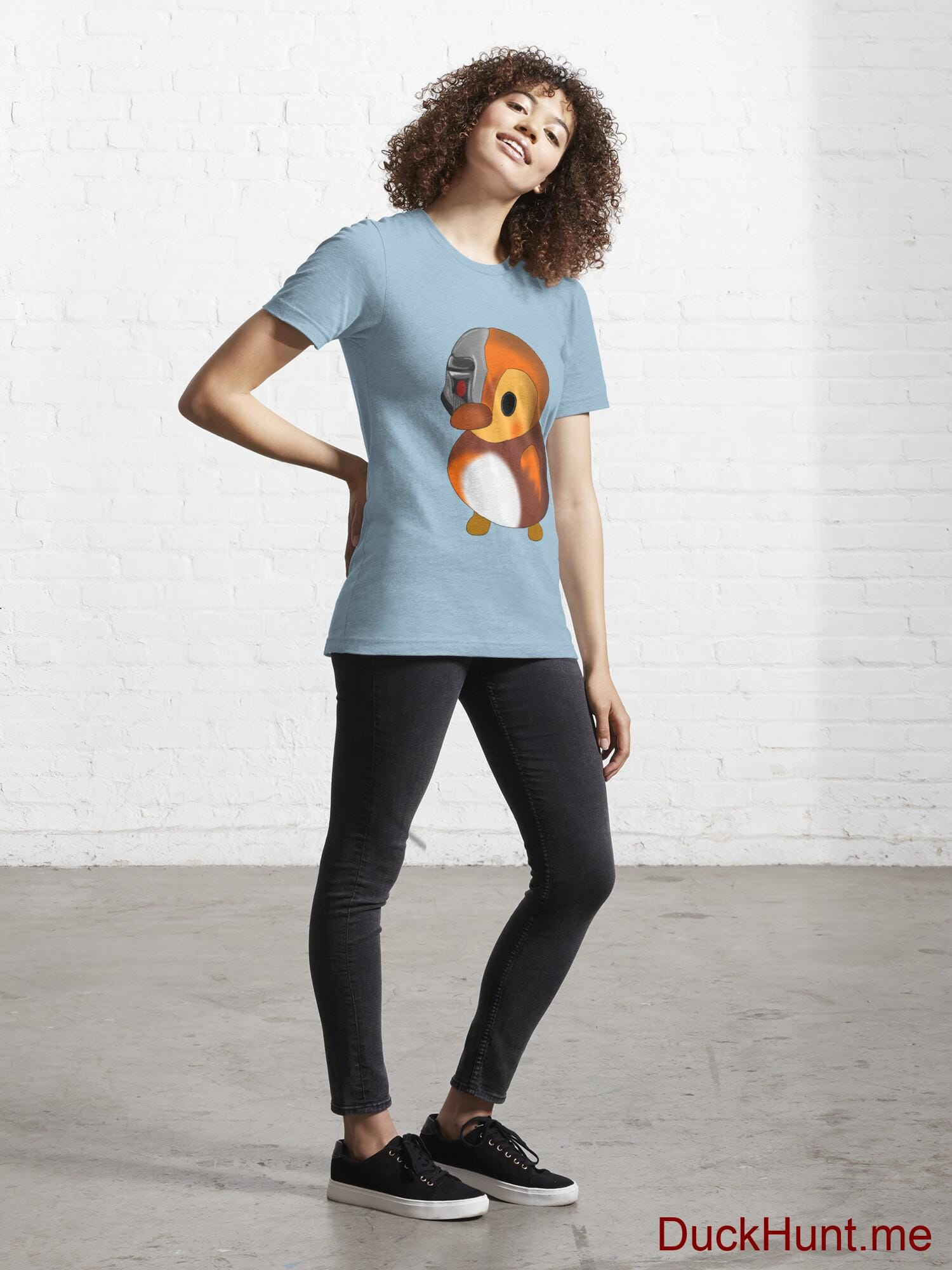 Mechanical Duck Light Blue Essential T-Shirt (Front printed) alternative image 3
