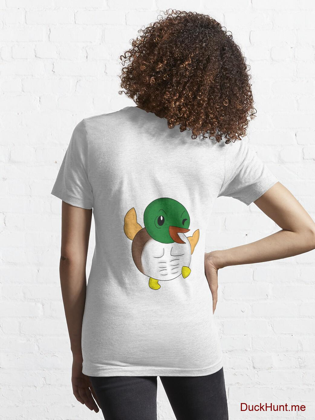 Super duck White Essential T-Shirt (Back printed) alternative image 4