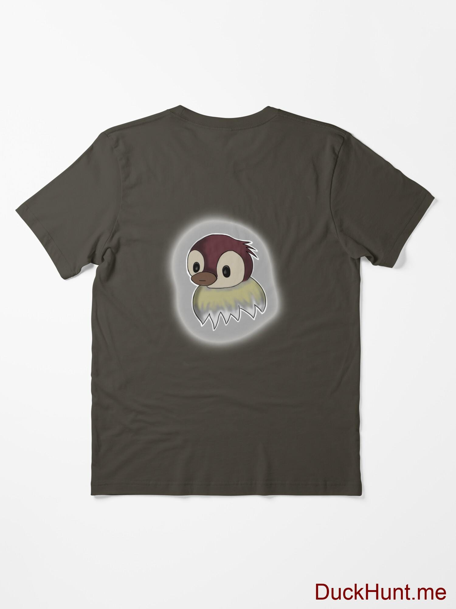 Ghost Duck (foggy) Army Essential T-Shirt (Back printed) alternative image 1