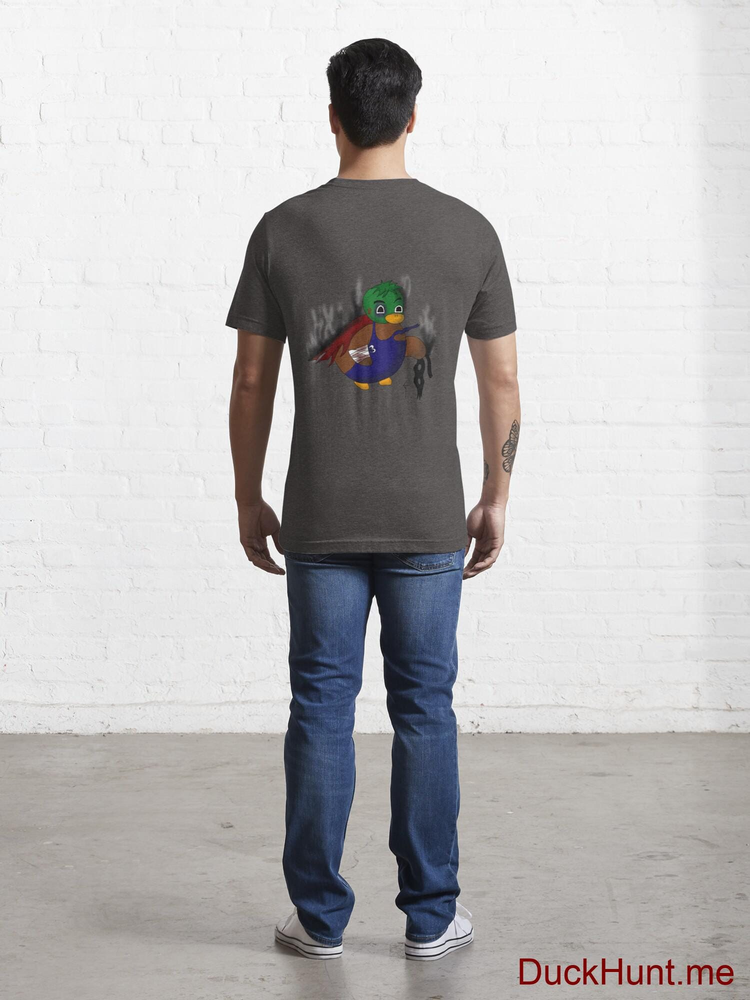 Dead Boss Duck (smoky) Charcoal Heather Essential T-Shirt (Back printed) alternative image 3