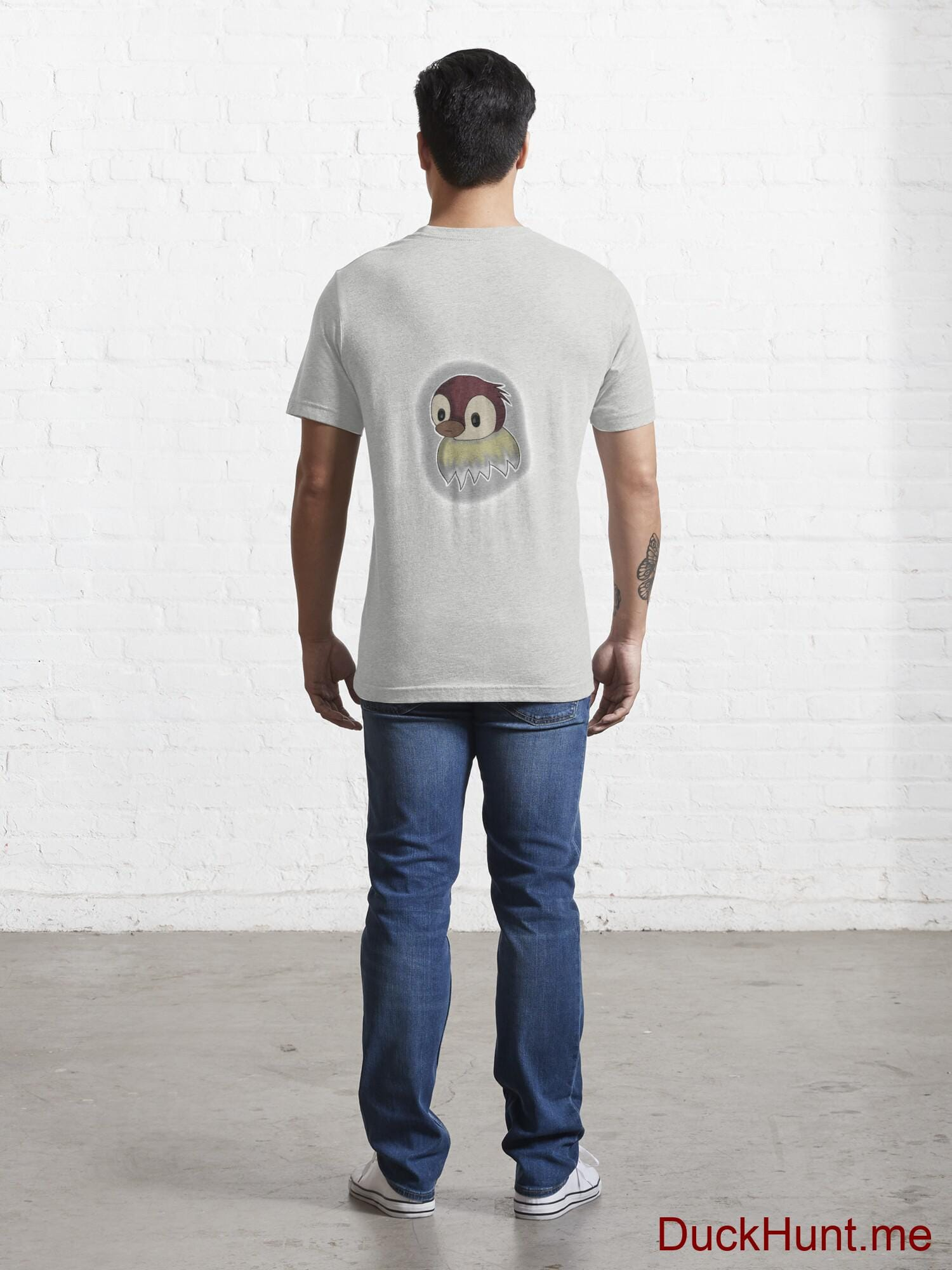 Ghost Duck (foggy) Light Grey Essential T-Shirt (Back printed) alternative image 3
